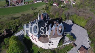Castle Of Menthon-Saint-Bernard - Video Drone Footage