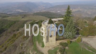 Le Village De Rennes-Le-Château, Vu- Vidéo Drone