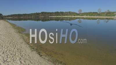 Lac De Clarens In Casteljaloux - Video Drone Footage