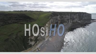 Etretat Cliffs - Video Drone Footage