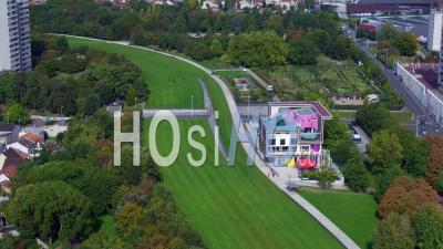 Jean Moulin Park - The Guilands And The Park House - Video Drone Footage