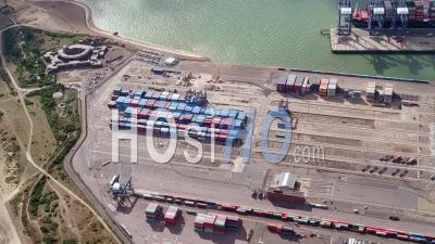 Port Of Felixstowe, Seen From A Helicopter