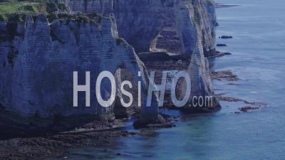 Cliffs Of Etretat - Video Drone Footage