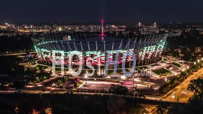 Stade Pge Narodowy, Pont Swietokrzyski, Praga, Varsovie - Vidéo Drone
