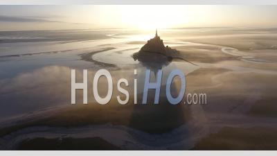Mont Saint-Michel à L'aube, Vidéo Drone