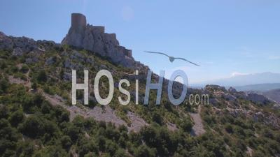 Cathar Castle Queribus - Video Drone Footage