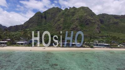 Kaaawa Beach, Windward, Hawaii - Video Drone Footage