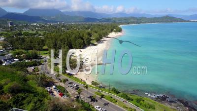 Lanikai Beach, Kailua, Hawaii - Video Drone Footage