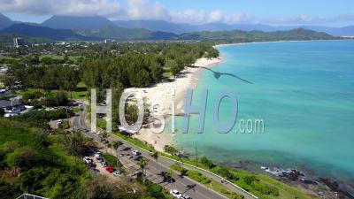 Lanikai Beach, Kailua, Hawaii - Drone Point Of View