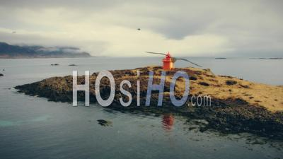 Lighthouse In Iceland - Video Drone Footage