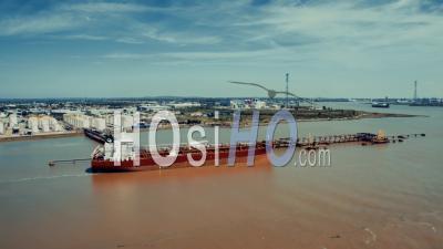 Dartford à Proximité Qeii Bridge, Vidéo Drone
