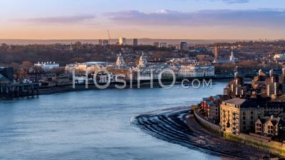 University Of Greenwich, Southbank Of The River Thames From Air