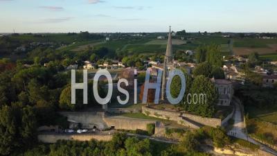 Church Of Sainte Croix Du Mont, Video Drone Footage
