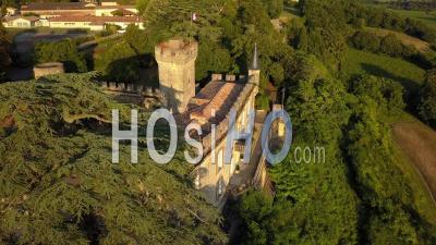 Castle Of Sainte Croix Du Mont, Drone Point Of View