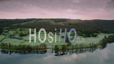Coniston, Lake District, Home Of Spead Boat Racing - Video Drone Footage