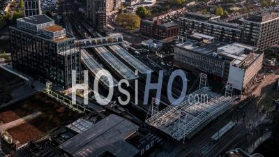 Gare D'east Croydon, Tramlink, East Croydon, Vidéo Drone