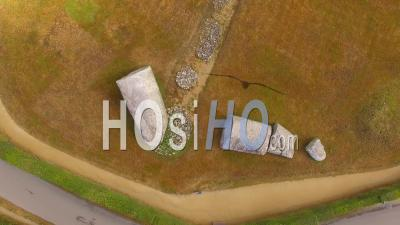 The Er Grah Tumulus Of Locmariaquer - Video Drone Footage