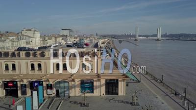 Aerial View Of Quai De Bordeaux, Hangars, Quai Des Marques, Commercial Gallery Bordeaux - Drone Point Of View