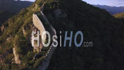 Wild Great Wall Of China - Video Drone Footage