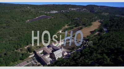 Abbey Of Senanque, A Cistercian Abbey Near The Village Of Gordes, Vaucluse, Provence, France - Video Drone Footage